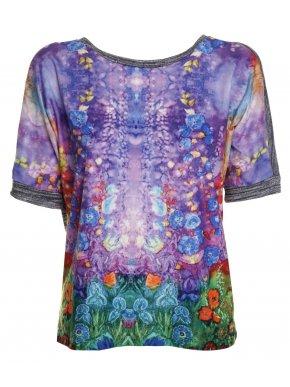 ZUIKI Ιταλική πολύχρωμη μπλούζα, πλέκτη πλάτη