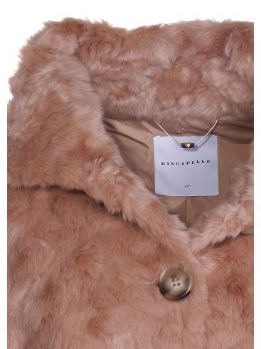 RINO PELLE Γυναικείο Ολλανδικό μακρύ μόκα παλτό-γούνα Ziyu 700W18
