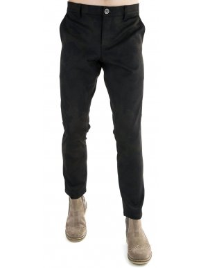 STEFAN Ανδρικό μαύρο ελαστικό παντελόνι κουστουμιού