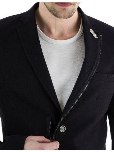 STEFAN Ανδρικό γκρί καρό μεσάτο σακάκι, Ιταλικός σχεδιασμός
