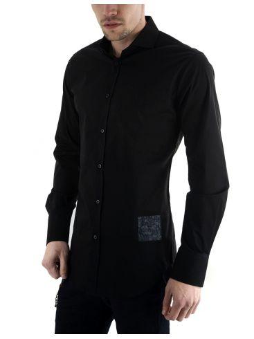 STEFAN Ανδρικό μπλέ μακρυμάνικο slim fit πουκάμισο
