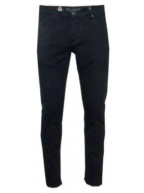 VAN HIPSTER Μαύρο ελαστικό skinny παντελόνι τζιν, slim leg