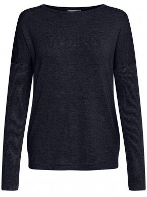 FRANSA Γυναικεία μαύρη ψιλή πλεκτή μαλακή μπλούζα