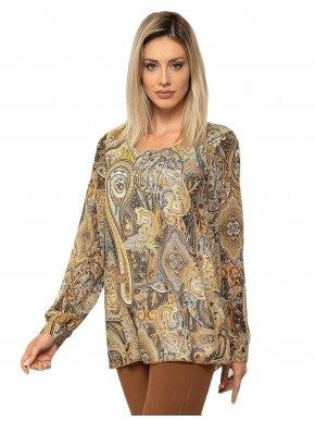 RAXSTA Γυναικεία φλοράλ πουκαμίσα μουσελίνα, τρουκάρ