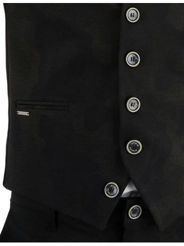 STEFAN Ανδρικό μπλέ σκούρο slim fit γιλέκο