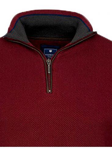 REDMOND Ανδρική μπλέ indigo μακρυμάνικη πλεκτή μπλούζα με V