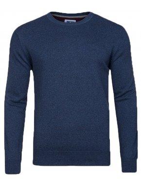 REDMOND Ανδρική μπλέ indigo μακρυμάνικη πλεκτή μπλούζα