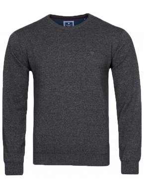 REDMOND Ανδρική γκρί μακρυμάνικη πλεκτή μπλούζα