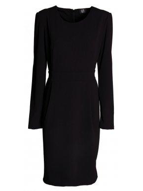 GR FASHION Ελαστικό ανθρακί ζιβάγκο πλεκτό φόρεμα