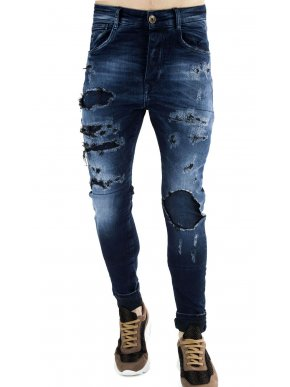 STEFAN Ανδρικό χαμηλοκάβαλο denim hyperflex τζιν παντελόνι