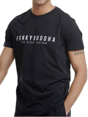 More about FUNKY BUDDHA Ανδρικό ανθρακί T-Shirt FBM00100804 BLACK