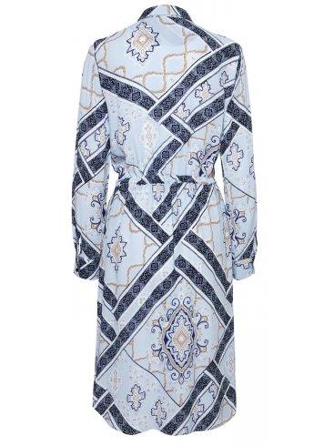 FRANSA Γυναικείο έθνικ γαλάζιο φόρεμα 20607077