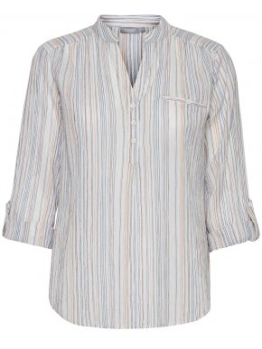 FRANSA Γυναικεία κυπαρισσί εμπριμέ πουκάμισο καφτάνι