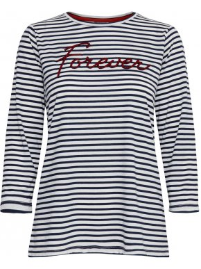 FRANSA Γυναικεία ασπρόμαυρη μπλούζα μαρινιέρα. 20607104