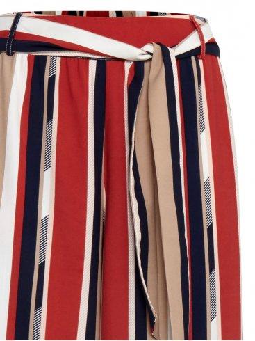 FRANSA Γυναικεία πολύχρωμη ριγέ παντελόνα 20607084