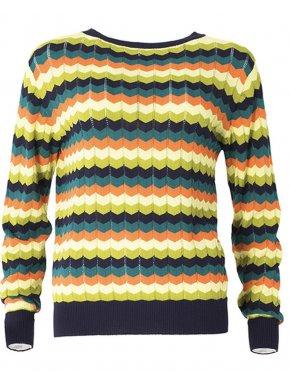SMASH Ισπανική πολύχρωμη πλεκτή ανοιξιάτικη μπλούζα.
