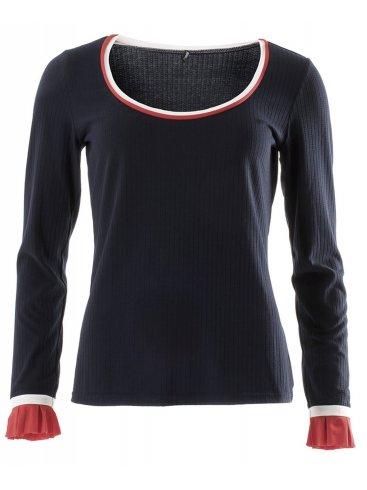 SMASH Ισπανική μπλέ ανοιξιάτικη πλεκτή μπλούζα