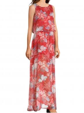 More about SMASH Ισπανικό πολύχρωμο μακρύ αμάνικο φόρεμα