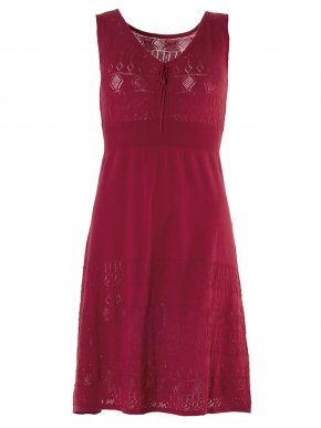 More about SMASH Ισπανικό κόκκινο αμάνικο πλεκτό φόρεμα