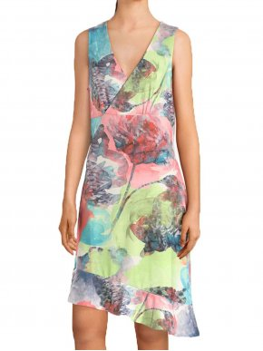More about SMASH Ισπανικό πολύχρωμο αμάνικο κρουαζέ φόρεμα, χωρίς μεσοφόρι