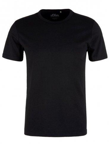 S.OLIVER Ανδρικό μαύρο μπλουζάκι t-shirt