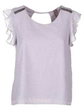 SMASH Ισπανικό αμάνικο γκοφρέ λιλά πουκάμισο