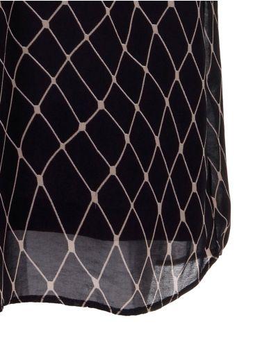 ALE Μακρυμάνικο μαύρο midi φόρεμα 8910040