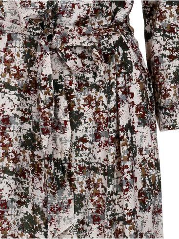 ATTRATTIVO Μidi κάμελ καρό φόρεμα με γιακά, 9910384