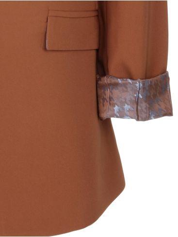 ALE Γυναικείο κάμελ ελαστικό σακάκι blazer. 82464624C