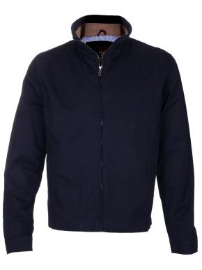 EXPLORER Ανδρικό μπλε navy cotton ελαφρύ αντιανεμικό μπουφάν