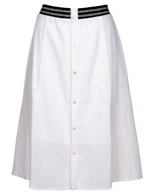 More about MiSMASH Γυναικεία κλοσαριστή γκοφρέ λευκή φούστα