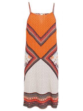 MisMASH Ισπανικό πολύχρωμο αμάνικο ελαφρύ φόρεμα