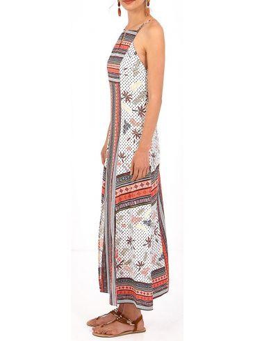 MisMASH Ισπανικό πολυχρώμο μακρύ ελαφρύ φόρεμα