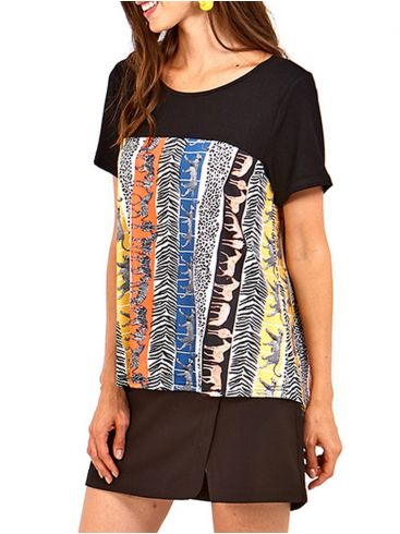 MisMASH Ισπανική γυναικεία πολύχρωμη ριγέ μπλούζα
