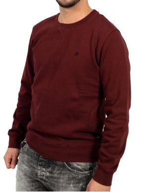 REPLAY Ανδρικό μπορντό μακρυμάνικο slim fit φούτερ M3436B00021842