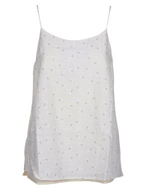 MiSMASH Ισπανικό γυναικείο ασπρόμαυρο τοπ, ρυθμιζόμενο ραντάκι.