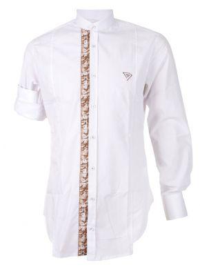 STEFAN Ανδρικό γαλάζιο μακρυμάνικο slim fit πουκάμισο