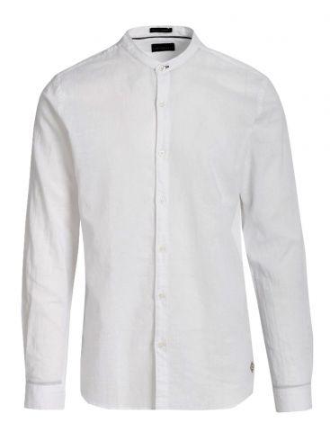 FUNKY BUDDHA Ανδρικό μακρυμάνικο μαύρο μάο πουκάμισο