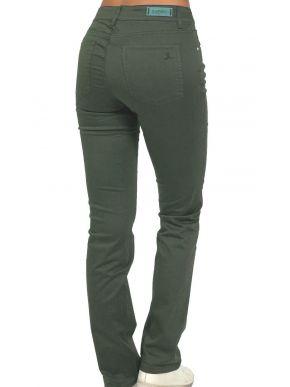 SARAH LAWRENCE Γυναικείο λαδί ελαστικό ψιλοκάβαλο παντελόνι