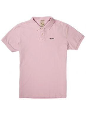 EMERSON Ανδρική ρόζ κοντομάνικη πικέ πόλο μπλούζα EM35.69 PALE PINK
