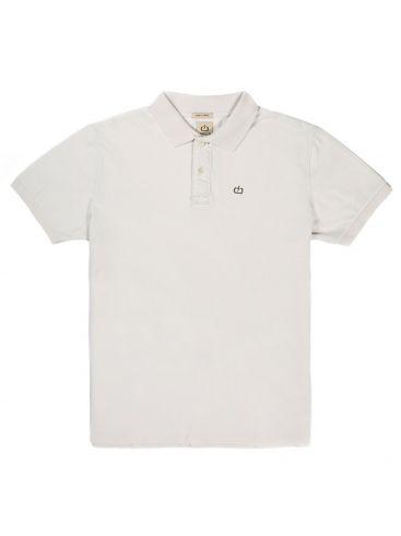 BASEHIT Ανδρική λευκό κοντομάνικη πικέ πόλο μπλούζα EM35.71 OFF WHITE
