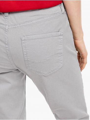 S.OLIVER Γυναικείο γκρί μεσαίο καβάλο slim leg τζιν παντελόνι.