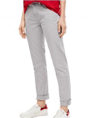 S.OLIVER Γυναικείο μαύρο ψιλοκάβαλο ίσιο τζιν παντελόνι