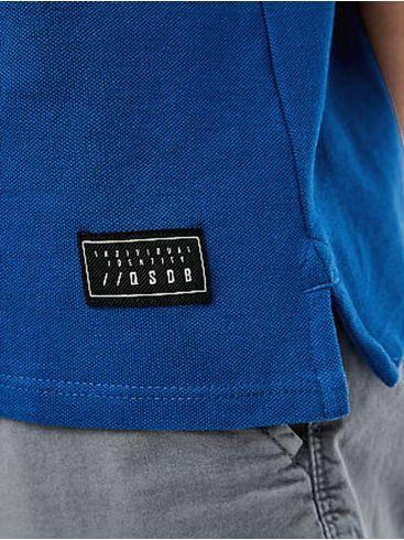 S.OLIVER Ανδρικό γκρί regular fit πικέ πόλο μπλουζάκι
