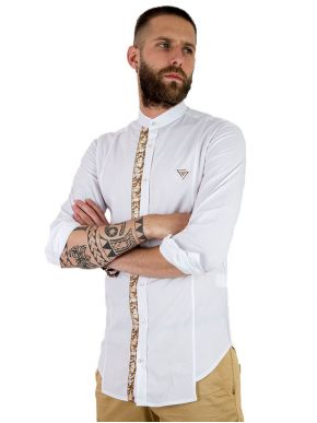 STEFAN Ανδρικό γαλάζιο slim fit πουκάμισο 9008