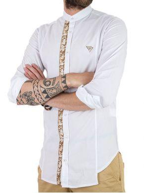 More about STEFAN Ανδρικό γαλάζιο slim fit πουκάμισο 9008