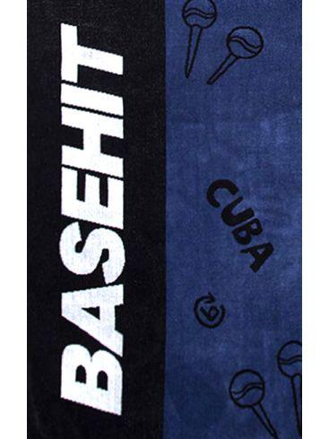 BASEHIT Μπλέ πετσέτα παραλίας 201.BU04.71