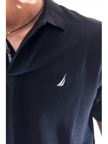 NAUTICA Ανδρικό μαύρο μπλουζάκι big & tall ZY8101-OTB True Black