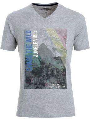 REDMOND Ανδρική μακριά άνετη μπλέ πικέ πόλο μπλούζα