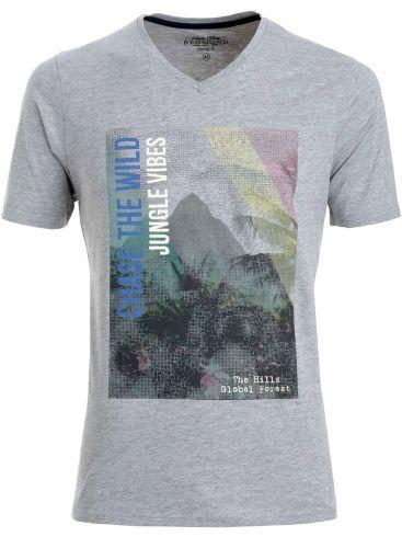 REDMOND Ανδρικόγκρί κοντομάνικο T-Shirt